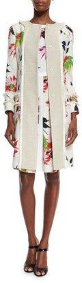 Etro Blossom Long Straight Coat, White $2,795 thestylecure.com