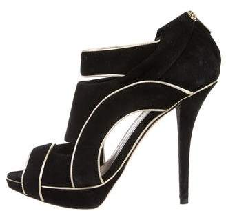 Christian Dior Suede Cutout Booties