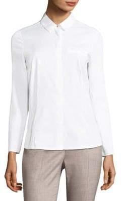 Peserico Cotton Button-Front Shirt