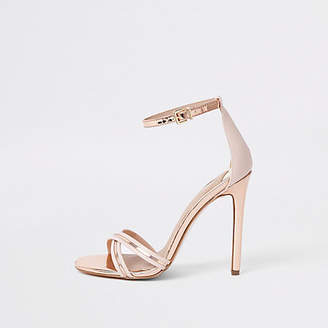 River Island Gold metallic barely there sandals