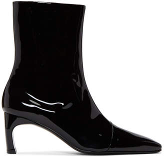Rosetta Getty Black Patent Heeled Boots