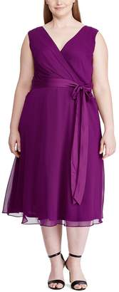 Chaps Plus Size Sleeveless Fit And Flare Dress