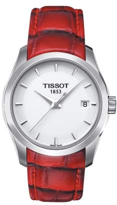 Tissot Couturier Leather Strap Watch, 32mm
