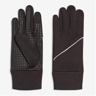 Joe Fresh Men's Touch Screen Active Gloves, Black (Size L/XL)