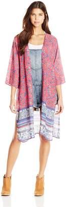 Derek Heart Junior's Oversized Kimono with Side Slit