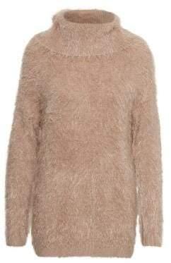 Cream Tilla Turtleneck Knitted Pullover