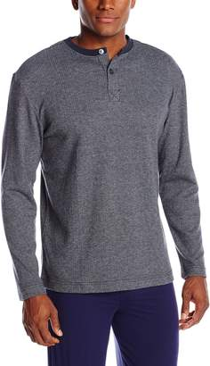 Majestic International ajestic Internationalen's Chill Chaser Long Sleeve Henley Shirt Top