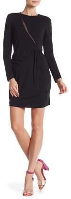 Nicole Miller Mesh Cutout Long Sleeve Dress
