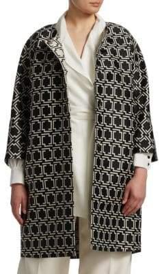 Marina Rinaldi Marina Rinaldi, Plus Size Geometric Jacquard Coat