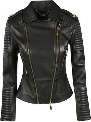 Elisabetta Franchi Celyn B. Padded Detail Biker Jacket