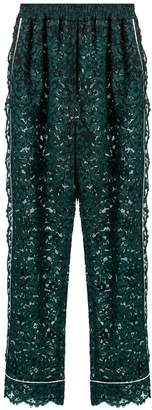 Dolce & Gabbana High-rise straight-leg cordonetto-lace trousers