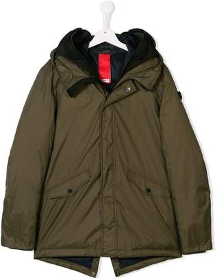 AI Riders On The Storm Kids TEEN hooded parka coat
