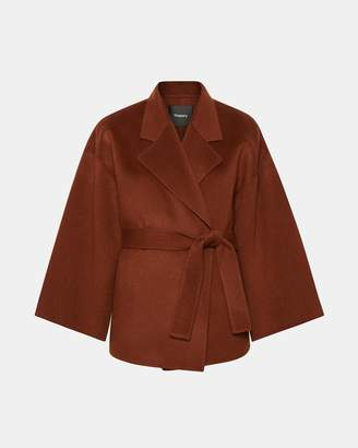 Theory Wool-Cashmere Robe Jacket