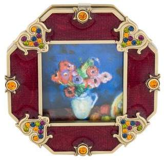 Jay Strongwater Crystal & Enamel Picture Frame