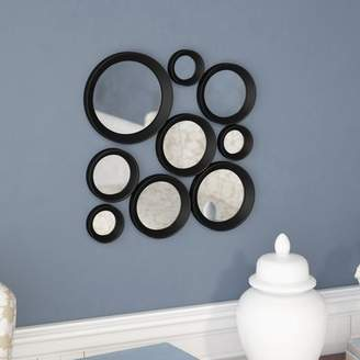 Wrought Studio Bridger 9 Piece Round Framed Hanging Wall Mirror Set