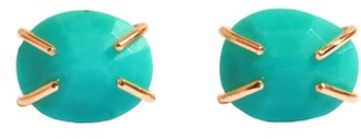 Women's Melissa Joy Manning Turquoise Prong Stud Earrings $465 thestylecure.com