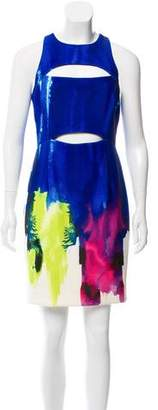 Milly Printed Cutout Dress