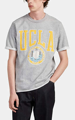 "Junya Watanabe Comme des Garçons Men's ""UCLA"" Cotton-Blend Short-Sleeve Sweatshirt - Gray"