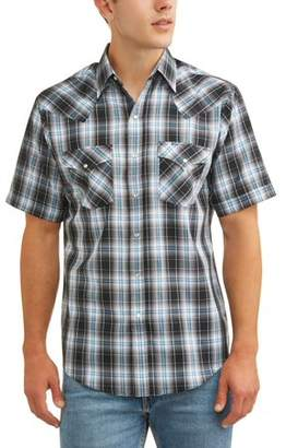 Plains Men's Short Sleeve Plaid Western Shirt