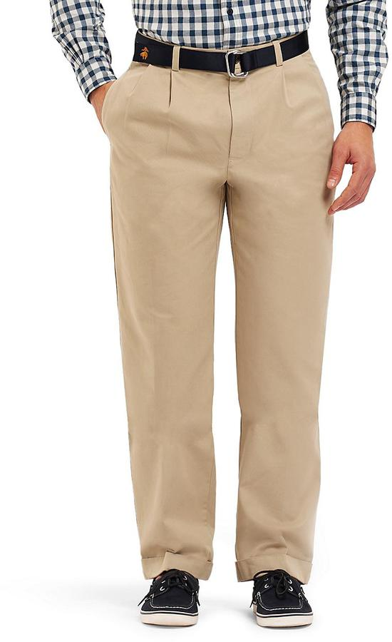 Brooks Brothers Elliot Pleat-Front Linen and Cotton Chinos