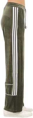 adidas Soft Velvet Wide Leg Track Pants