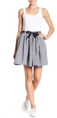 Romeo & Juliet Couture Tie Front Striped Skirt
