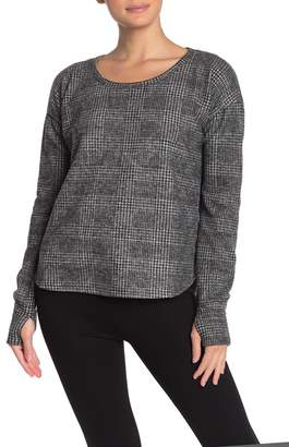 Cable & Gauge CG Cozy Glen Plaid Print Pullover Sweater