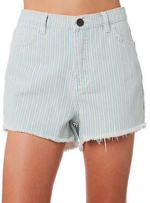 Billabong New Girls Kids Girls Seven Seas Short Cotton Fitted Blue