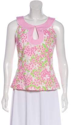 Lilly Pulitzer Printed Sleeveless Blouse