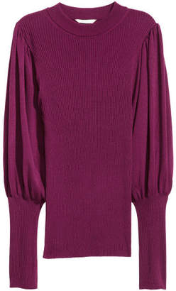 H&M Sweater with Balloon Sleeves - Pink