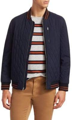 Saks Fifth Avenue MODERN Quilted Bomber Jacket
