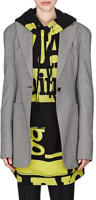 Maison Margiela Women's Micro-Houndstooth Wool One-Button Blazer