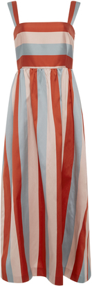 Red Valentino Striped Twill Dress $795 thestylecure.com