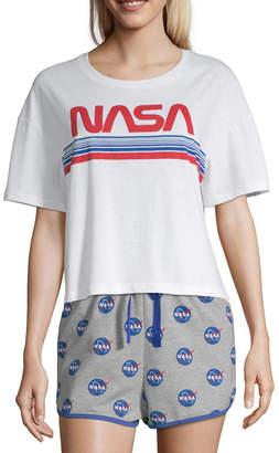 Novelty Licensed Nasa Womens-Juniors Pajama Top Crew Neck 6b2a20f93