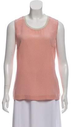 Fabiana Filippi Printed Sleeveless Top