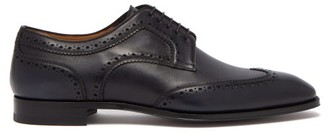 Christian Louboutin Cousin Platerissimo Leather Brogues - Mens - Navy