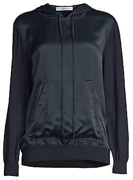 Max Mara Women's Arca Silk Front Knit Hoodie