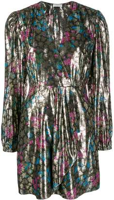 Sandro Paris metallic plunge style dress