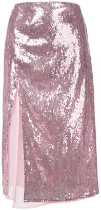 Christian Pellizzari sequin embellished skirt