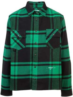 Off-White long-sleeve check shirt