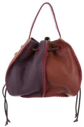 Carlos Falchi Leather Bucket Bag