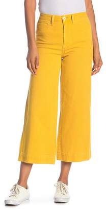 Madewell Emmett Solid Wide Leg Cropped Pants
