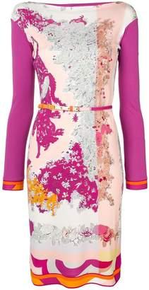 Emilio Pucci boat neck floral dress