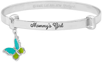 Hallmark Kids Sterling Silver Enamel Butterfly Bangle Bracelet