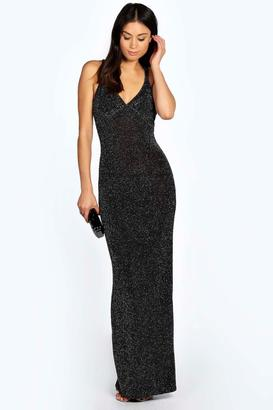 boohoo Claire Strappy Back Maxi Dress $44 thestylecure.com