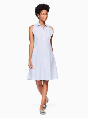 Kate Spade Ruffle poplin stripe dress