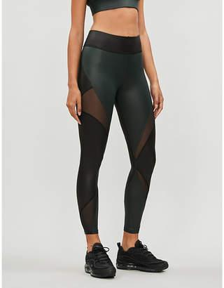 Michi Inversion mesh-panel leggings
