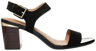 Calvin Klein Cimi Black Combo Nubuck Sandal