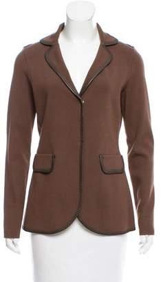 Bruno Manetti Knit Notch-Lapel Jacket