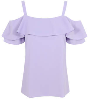 George Cold Shoulder Layered Top